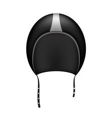 Retro motorcycle helmet in black design