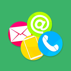 Contact Us Round Icons