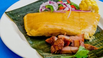 Peruvian cuisine dish tamales,tamal or tamale