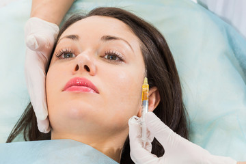 Cosmetic injection in the spa salon