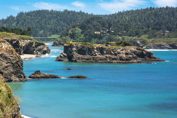 Islet in the bay of Mendocino,California