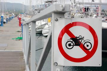 No Motorbike Sign