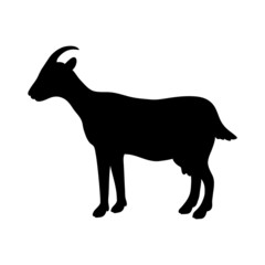 silhouette of goat