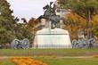 Jackson Statue Canons Lafayette Park Autumn Washington DC - 74312387