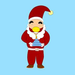 Nice cartoon Santa Claus