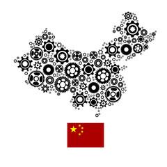 High detailed vector map - China