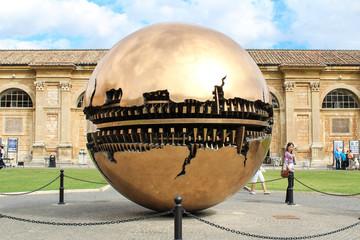 Sphere within sphere at Cortile della Pigna in Vatican