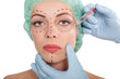Injections of botox and cosmetic surgery concept