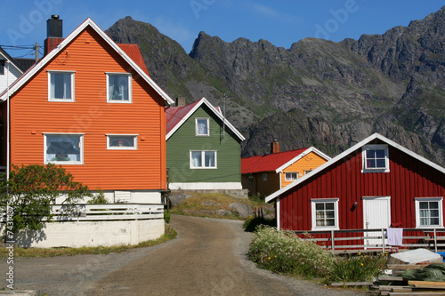 Maisons de couleurs - 74314375