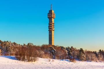Television tower in Stockholm, Sweden