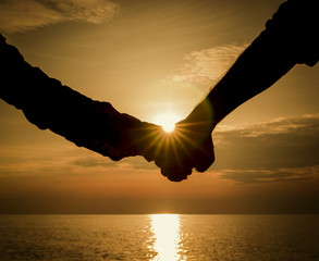 Romantic Couple on the Beach