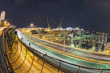 Genoa Flyover at night