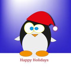 funny penguin happy holidays
