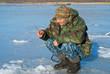Man on winter fishing 40