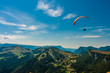 Leinwandbild Motiv Paragliding on the sky