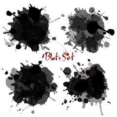 Abstract set blots. Vector background.