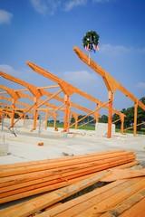 Holzbau - Neubau eines Rinderstalles aus Holz