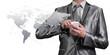 Businessman working with digital object, business globalization