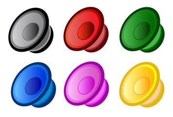 Set of vector speakers