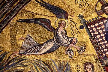 arcangelo Michele; mosaico abside; basilica S. Ambrogio, Milano