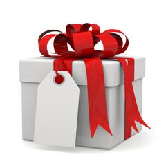 pacco regalo con biglietto