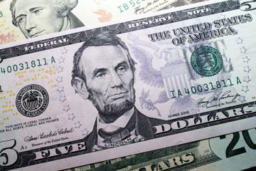 abraham lincoln dollar banknote portrait
