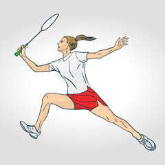 A female Professional Badminton Player