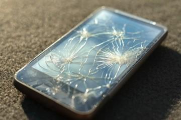 Broken glass of smart phone