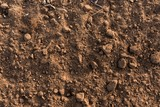 Dry soil closeup before rain