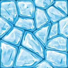 Blue ice seamless pattern