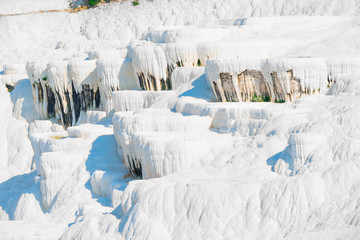 parched basins of Pamukkale in Turkey