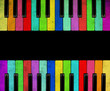 Color Piano isolated - 74319716