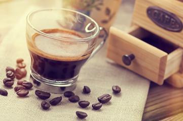 Vintage italian espresso coffee