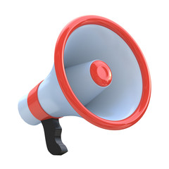 Red megaphone or loudspeaker