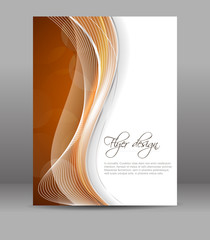 Business flyer template, vector brochure or cover design