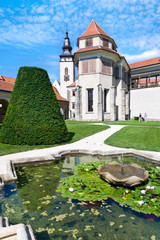 renaissance center (UNESCO) in Telc town,  Czech republic