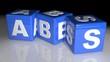ABS plastic material