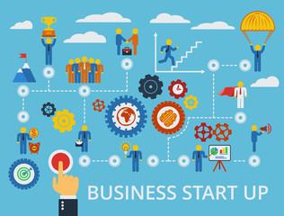 Business start up template. Vector.
