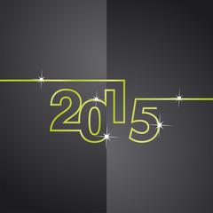 Green line 2015 black background vector