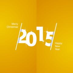 2015 Happy New Year white orange background