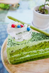 Japanese Matcha Green tea cake