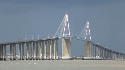 The Saint-Nazaire Bridge across Loire river, France