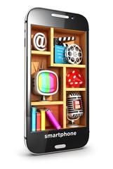 3d smartphone multimedia concept