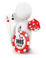 3d white people casino accessories