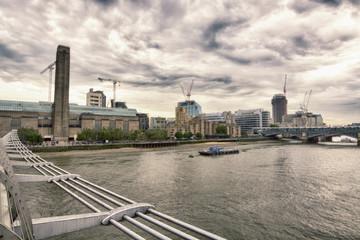 London skyline from Millenium bridge