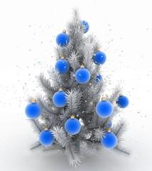 Christmas tree. 3d render image