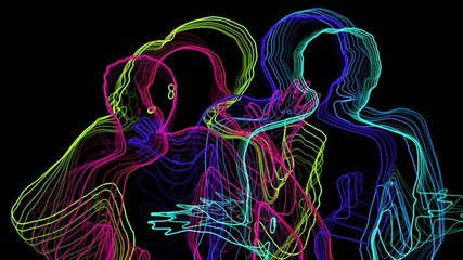 Neon sexy dancers.