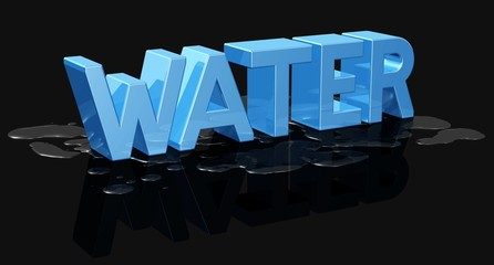 Water - Text mit Wasserflecken
