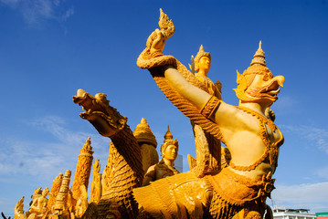 Candle festival is beautiful in Thailand.