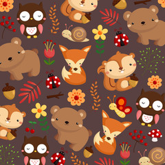 animal woodland dark background